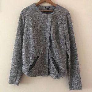 Torrid Gray Zipper Jacket With Pockets Size 2